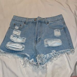 Distressed Shorts from Shein